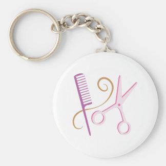 De Hulpmiddelen van de kapper Sleutelhanger