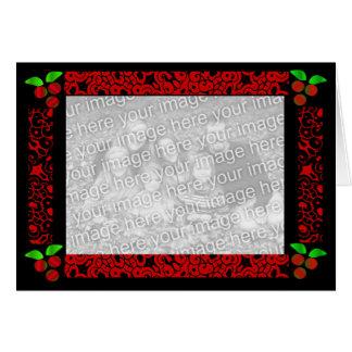 De Hulst van Kerstmis in Rood Wenskaart