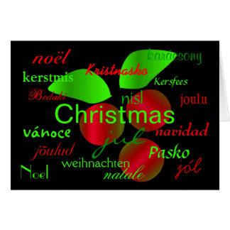 """De """"hulst van Kerstmis rond de Wereld"""" Kaart"""