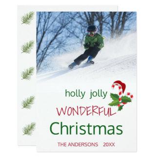 De Hulst van Kerstmis van het Riet van het Snoep Kaart