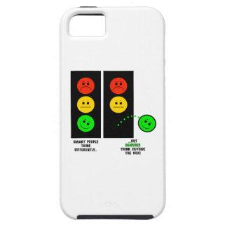 De humeurige Genieën van het Rood licht denken Tough iPhone 5 Hoesje