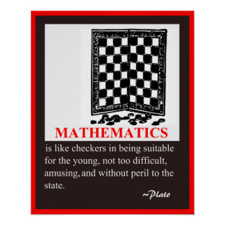 De Humor en het citaat van de wiskunde door Plato Poster