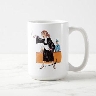 De humor: ijveraarster - koffiemok