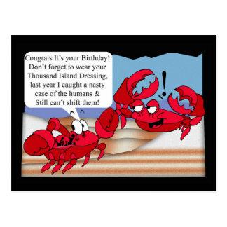 De humor Kaart van de Verjaardag met twee krabben