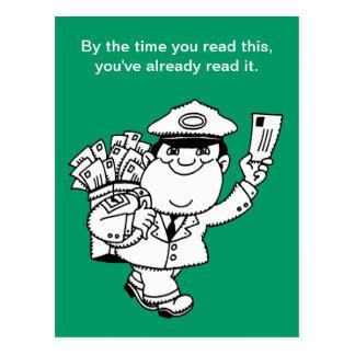De Humor van de brievenbesteller - tegen de tijd Briefkaart