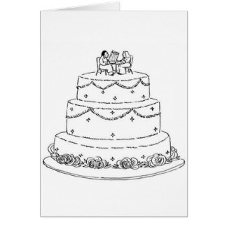 De Humor van de Cake van het huwelijk Wenskaart