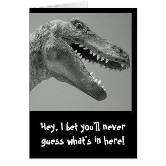 De Humor van de dinosaurus Wenskaart