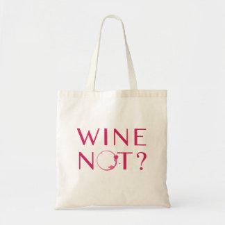 De Humor van de Minnaar van de Wijn van wijn niet Draagtas