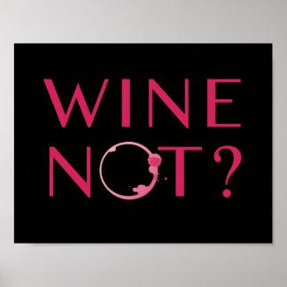 De Humor van de Minnaar van de Wijn van wijn niet Poster