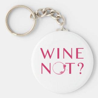 De Humor van de Minnaar van de Wijn van wijn niet Sleutelhanger