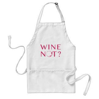 De Humor van de Minnaar van de Wijn van wijn niet Standaard Schort