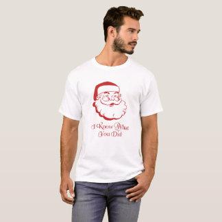 De Humor van de Vakantie van de kerstman: Ik weet T Shirt