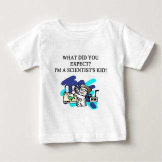 de humor van het wetenschapskind baby t shirts
