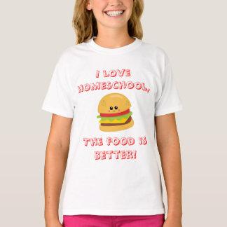 De Humor van Homeschool van de cheeseburger T Shirt