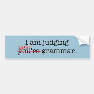 De humoristische Politie van de Grammatica Bumpersticker