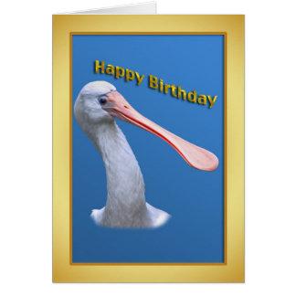 De humoristische Spoonbill Kaart van de Verjaardag