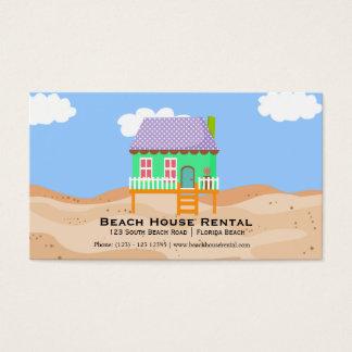 De Huur van het Huis van het strand Visitekaartjes