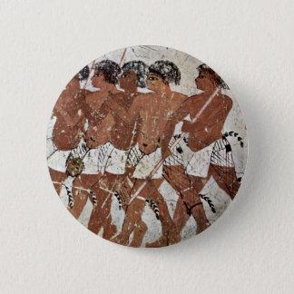 De Huurlingen van Nubian door Maler Der Grabkammer Ronde Button 5,7 Cm