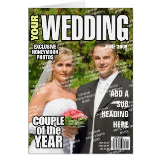 De huwelijk Gepersonaliseerde Dekking van het Briefkaarten 0