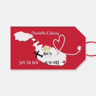 De huwelijken in het buitenland Malta bewaren de Cadeaulabel