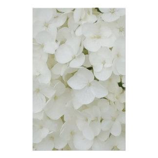 De hydrangea hortensia bloeit Bloemen Witte Briefpapier