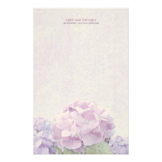 De Hydrangea hortensia's van de pastelkleur Briefpapier
