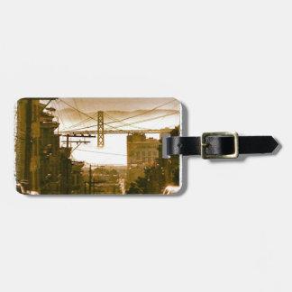 De iconische Baai van San Francisco - het Label va Bagagelabel