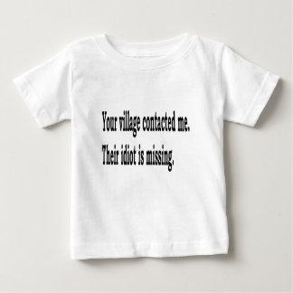 De Idiot van het dorp Baby T Shirts