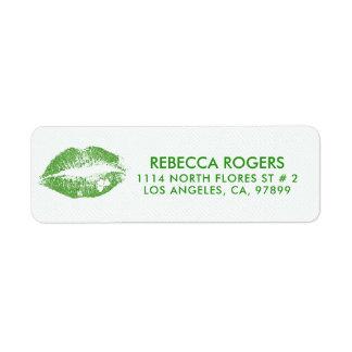 De iers-groene Kus van Lippen & het Groene Patroon Etiket