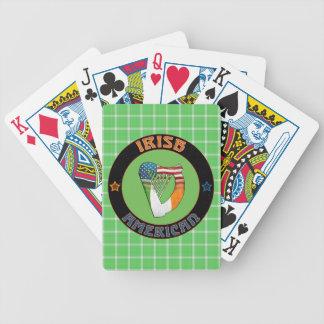 De Ierse Amerikaanse Speelkaarten van de Harp Pak Kaarten