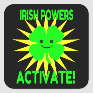 De Ierse Bevoegdheden activeren Vierkant Stickers