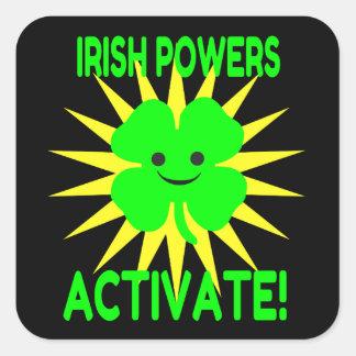 De Ierse Bevoegdheden activeren Vierkante Sticker