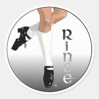 De Ierse Danser van de Stap - Harde Schoen - Rince Ronde Sticker