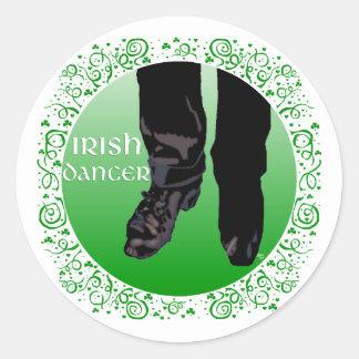 De Ierse Danser van de Stap - Mannetje Ronde Sticker