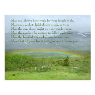 De Ierse Foto van de Regenboog van de Zegen Briefkaart