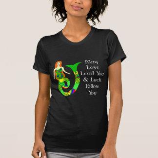 De Ierse Meermin van de liefde & van het Geluk Tshirts