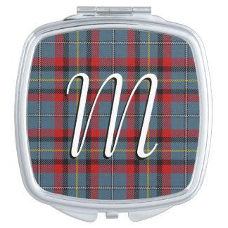 De Ierse Plaid van het Geruite Schotse wollen stof Makeup Spiegel