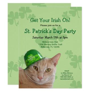 De Ierse St. Patrick van de Kat Uitnodigingen van