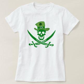 De Ierse T-shirt van de Vlag van de Schedel van de