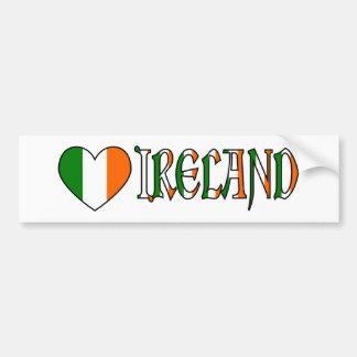 De Ierse Vlag & Word Ierland van het Hart Bumpersticker