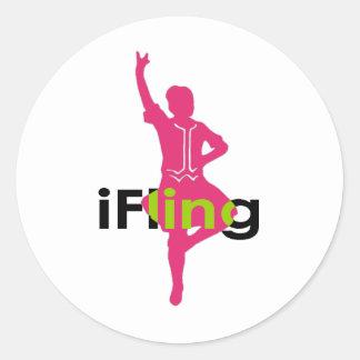 de iFling Danser van het Hoogland Ronde Sticker