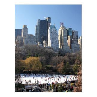 De Ijsbaan van het Central Park Briefkaart