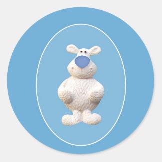 De ijsbeer van Kerstmis Ronde Sticker