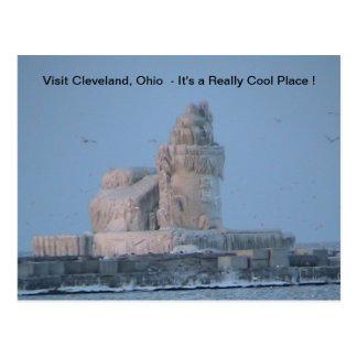 De ijzige Haven van Cleveland Briefkaart