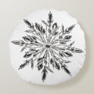 De ijzige Sneeuwvlok van het Kristal Rond Kussen