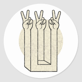 De Illusie van de vrede Ronde Sticker