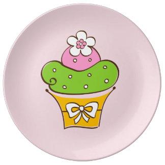 De Illustratie van Cucake Porselein Bord