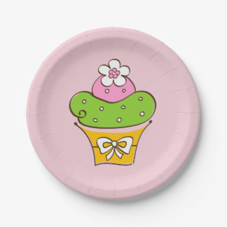 De illustratie van Cupcake Papieren Bordje