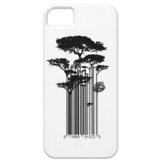 De illustratie van de Bomen van de Streepjescode Barely There iPhone 5 Hoesje