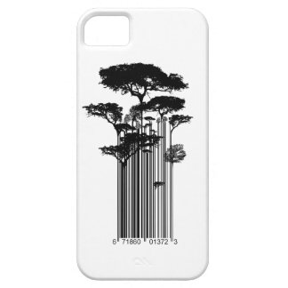 De illustratie van de Bomen van de Streepjescode v iPhone 5 Case